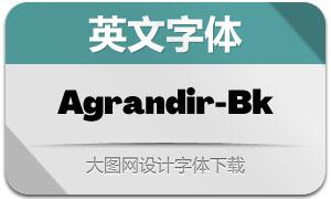 Agrandir-Black(英文字体)