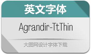Agrandir-TightThin(英文字体)