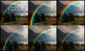 中文版外景照片添加彩虹效果PS动作