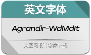 Agrandir-WideMdIt(英文字体)