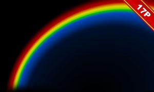 绚丽彩虹元素高光装饰图层叠加素材