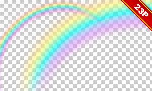 七彩绚丽彩虹后期合成适用免抠素材