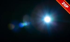 镜头光晕与光斑等装饰适用高清图片