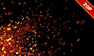 迸發四射的火花后期用高清圖片素材