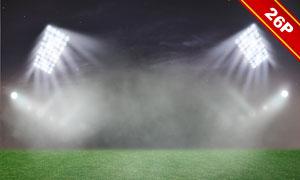 體育場館燈光照明主題圖層疊加素材