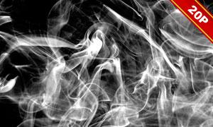 白色煙霧裝飾后期合成適用免摳素材