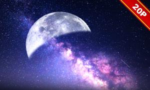 夜晚宇宙星空合成適用高清圖片集V02