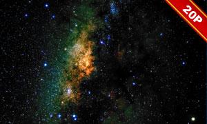 夜晚宇宙星空合成適用高清圖片集V04