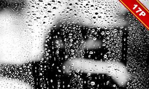 下雨天氣水珠合成適用高清圖片素材