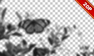 虚焦模糊效果树叶装饰用图片素材V03