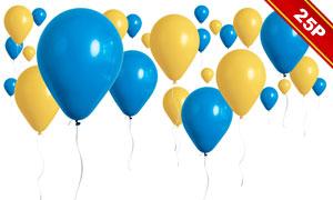 多彩气球装饰元素图层叠加高清图片