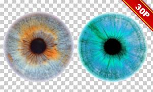 多彩美瞳效果合成适用图层叠加素材