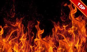 火苗与火花等元素图层叠加高清图片