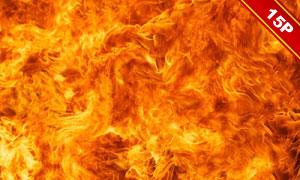 火花与熊熊燃烧的火苗主题高清图片