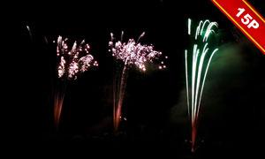 夜空璀璨的烟花高光适用高清图片V02