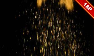 粒子光斑效果装饰元素图层叠加素材