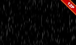 不同雨量下雨情景主题高光图片素材