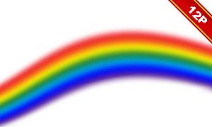或拱形的七彩彩虹主题高清图片素材
