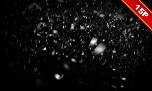 漫天飛舞的雪花主題圖層疊加素材V03