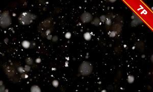 漫天飛舞的雪花主題圖層疊加素材V05