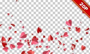 纸张折叠成的红色心形主题素材集V02