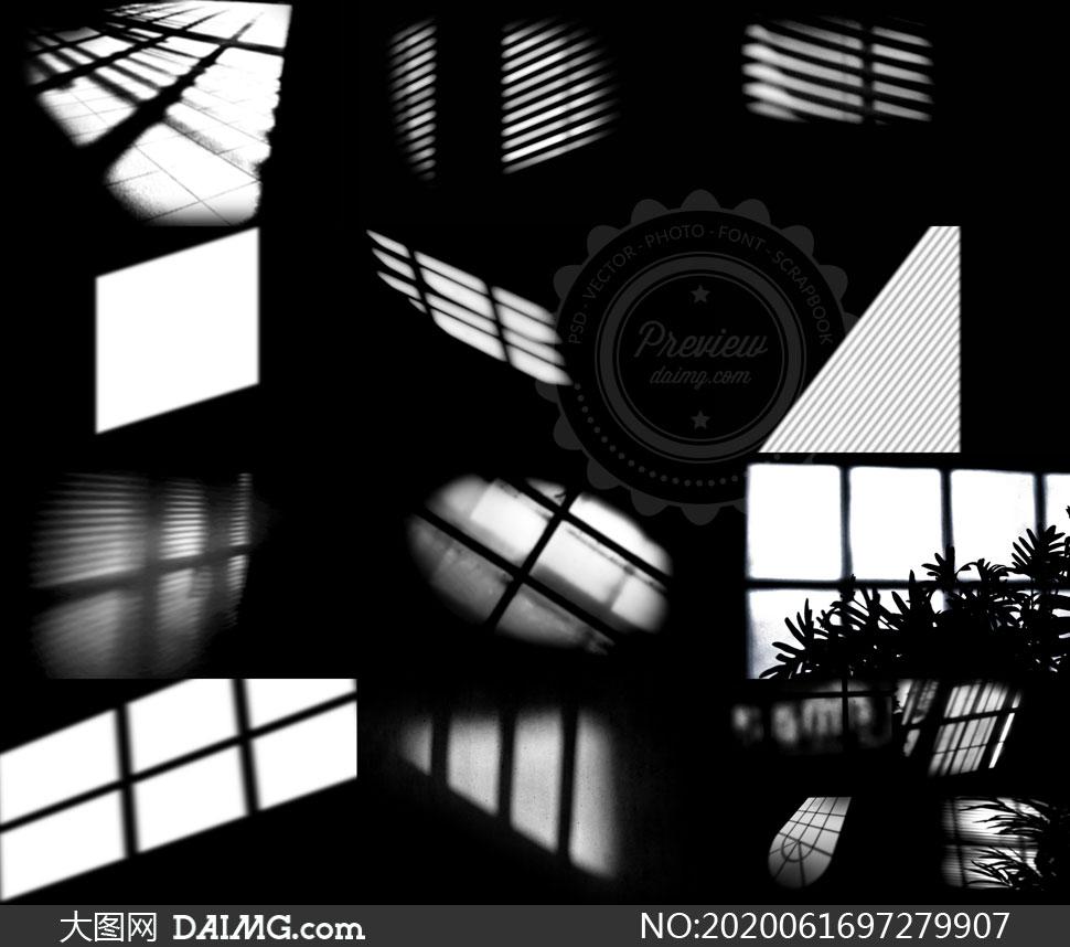 窗户与植物阴影等创意合成素材集V01