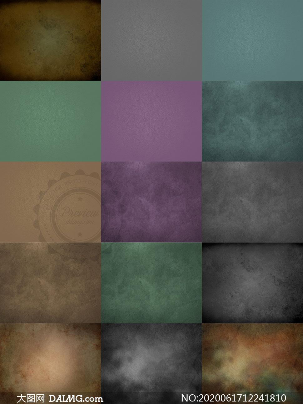 不同配色颓废风格纹理高光适用图片