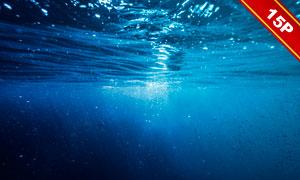 水下视角湛蓝海水风光后期用素材V2