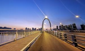 柳州白沙大桥美丽夜景摄影图片
