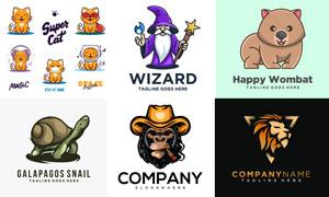 乌龟与猫咪等卡通创意设计矢量素材