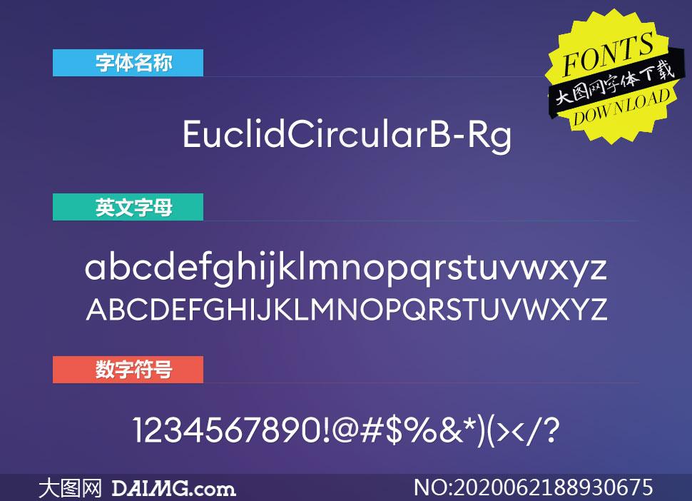 EuclidCircularB-Regular(英文字体)