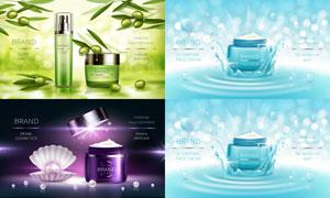 水花与喷溅的水花元素广告矢量素材