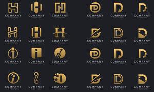 英文字母变形演绎标志设计矢量素材