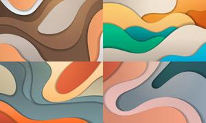 多彩层次分明抽象背景创意矢量素材