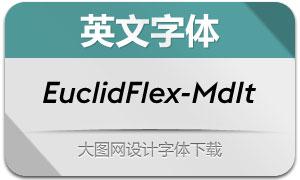 EuclidFlex-MediumItalic(英文字体)