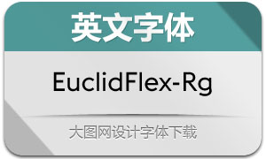 EuclidFlex-Regular(英文字体)