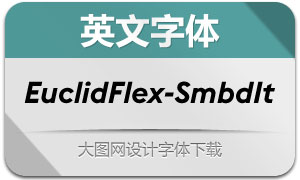 EuclidFlex-SemiboldItalic(英文字体)