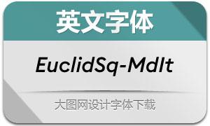 EuclidSquare-MediumIt(英文字体)
