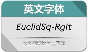 EuclidSquare-RegularIt(英文字体)
