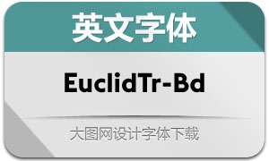 EuclidTriangle-Bold(英文字体)