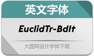 EuclidTriangle-BoldIt(英文字体)