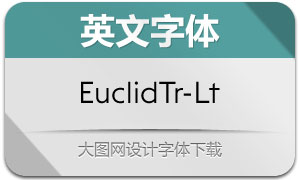 EuclidTriangle-Light(英文字体)