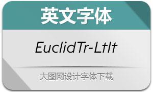 EuclidTriangle-LightItalic(英文字体)
