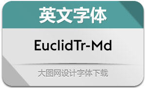 EuclidTriangle-Medium(英文字体)