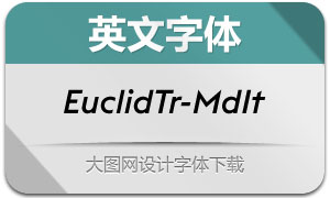 EuclidTriangle-MediumItalic(英文字体)