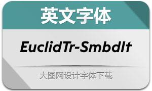 EuclidTriangle-SemibdIt(英文字体)