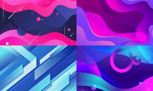 几何图形抽象背景创意矢量素材集V02