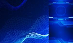 几何图形抽象背景创意矢量素材集V03