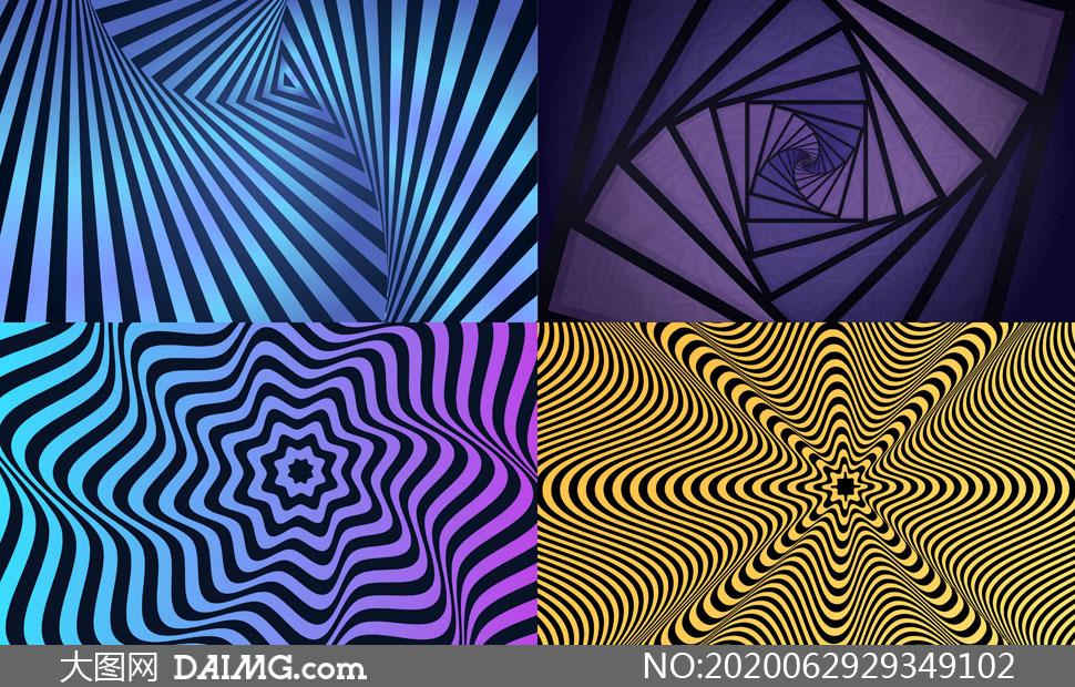 几何图形抽象背景创意矢量素材集V05