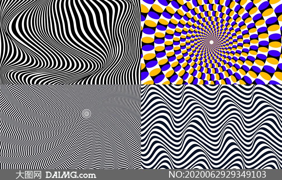 几何图形抽象背景创意矢量素材集V06